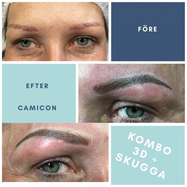 Ögonbrynstatuering i Visby, härlig förändring